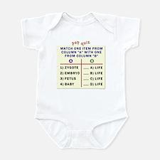 Matching quiz Infant Bodysuit