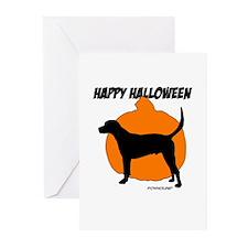 Foxhound Halloween Pumpkin Greeting Cards (Pk of 1