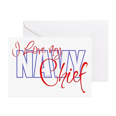 NavyChief_01 Greeting Cards