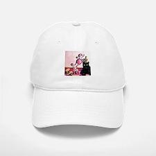 Pink Polka-dot Poodle... Baseball Baseball Cap
