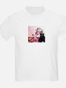 Pink Polka-dot Poodle... T-Shirt