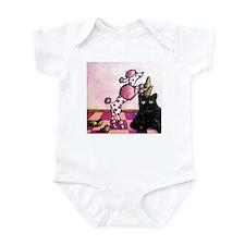 Pink Polka-dot Poodle... Infant Bodysuit