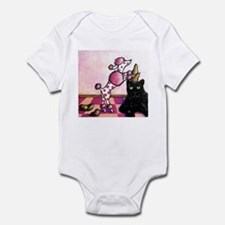 Pink Polka-dot Poodle... Infant Bodysuit