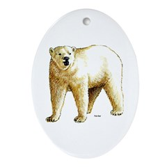 Polar Bear Oval Ornament