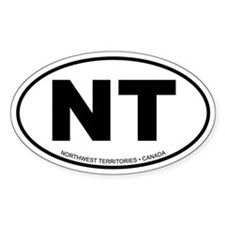 Northwest Territories Oval Bumper Stickers