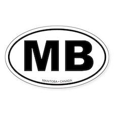 Manitoba Oval Bumper Stickers