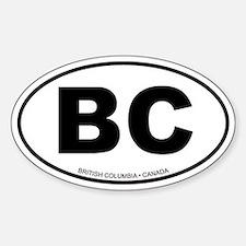 British Columbia Oval Bumper Stickers