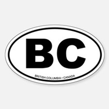 British Columbia Oval Decal