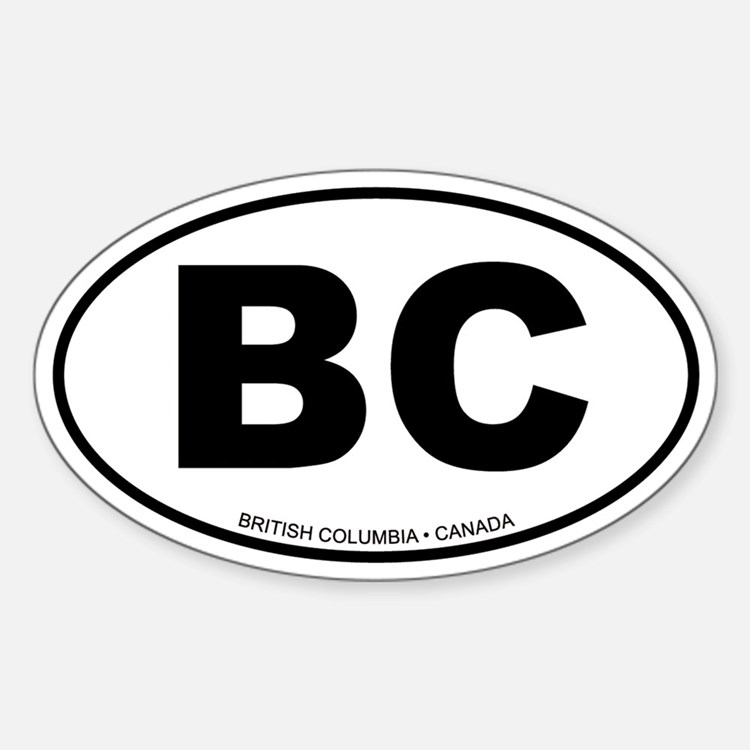 British Columbia Oval Decal
