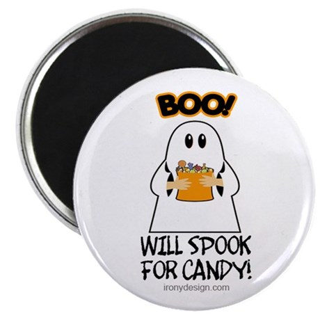 Boo! Will Spook For Candy Magnet