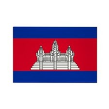 Cambodia Rectangle Magnet
