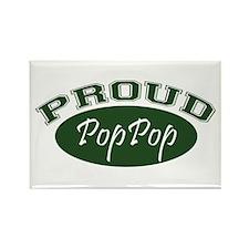 Proud PopPop (green) Rectangle Magnet