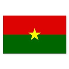 Burkina Faso Rectangle Decal