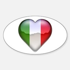 Italy Heart Oval Decal