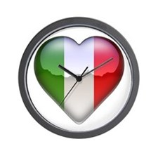 Italy Heart Wall Clock