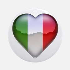 Italy Heart Ornament (Round)