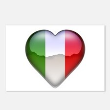 Italy Heart Postcards (Package of 8)