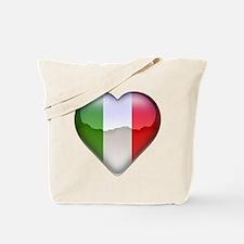 Italy Heart Tote Bag
