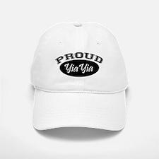 Proud YiaYia (black) Baseball Baseball Cap