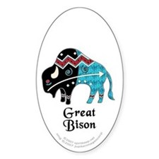 Great Bison #2 Oval Decal