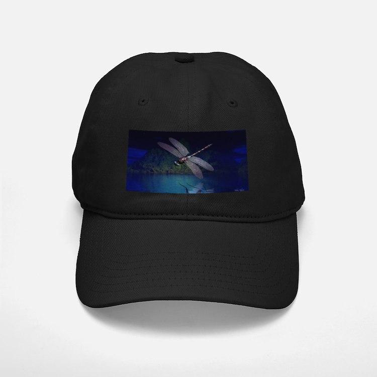 Dragonfly at Night Baseball Hat