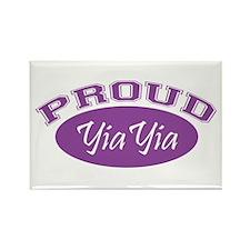 Proud YiaYia (purple) Rectangle Magnet