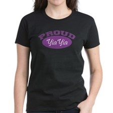 Proud YiaYia (purple) Tee