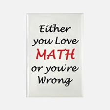 love math or Rectangle Magnet