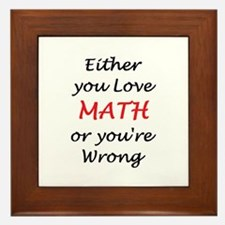 love math or Framed Tile