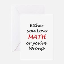 love math or Greeting Card