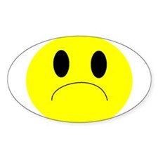 frown Oval Decal