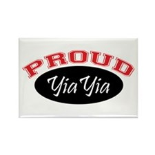 Proud YiaYia (black & red) Rectangle Magnet