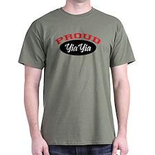 Proud YiaYia (black & red) T-Shirt