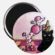 Funny Pink cat Magnet