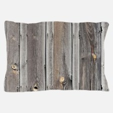 signed by the weather as old wood back Pillow Case