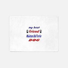 My Best Friend Miniature Bull Terri 5'x7'Area Rug