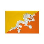 Bhutan Rectangle Magnet (100 pack)