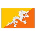Bhutan Rectangle Sticker