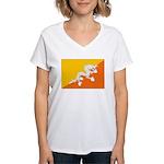 Bhutan Women's V-Neck T-Shirt