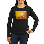 Bhutan Women's Long Sleeve Dark T-Shirt