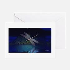 Dragonfly at Night Greeting Card