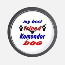My Best Friend Komondor Dog Wall Clock