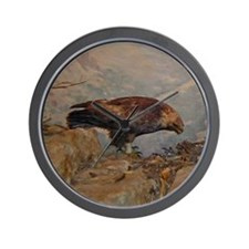 golden eagle Wall Clock