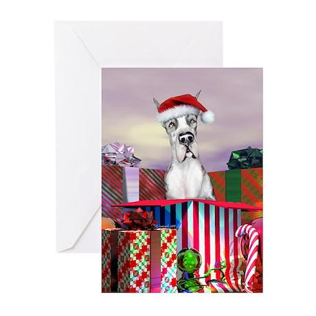 MerleQ Dane Claus Greeting Cards (Pk of 20)