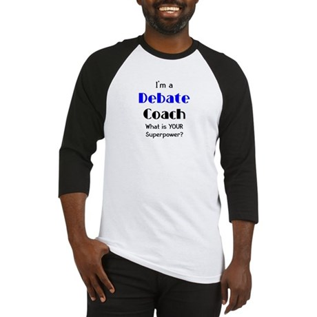 debate coach Baseball Jersey