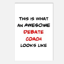 awesome debate coach Postcards (Package of 8)