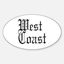 West Coast Oval Decal
