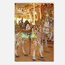 carousel giraffe Postcards (Package of 8)