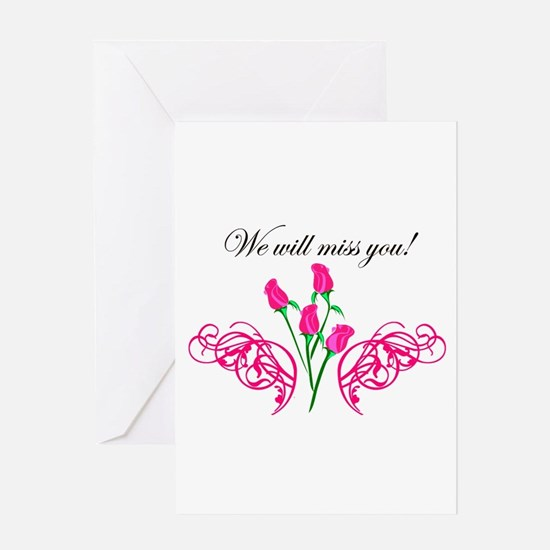 wewillmissyou copy Greeting Cards
