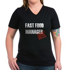 Off Duty Fast Food Manager Shirt